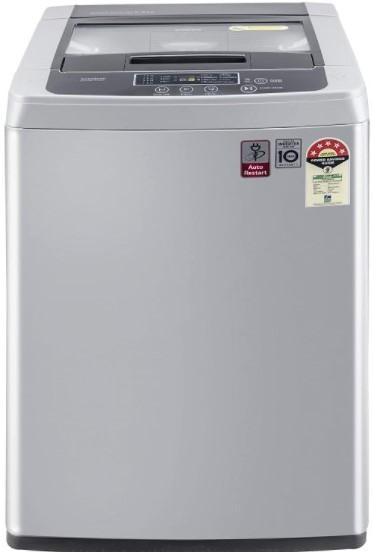 Gray top loading washing machine